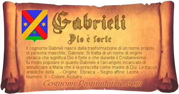 Nome Gabrieli