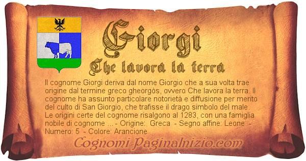 Nome Giorgi