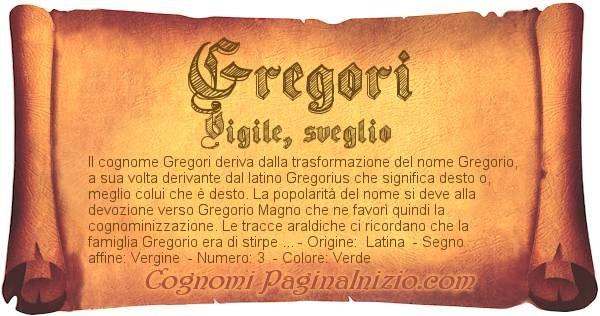 Nome Gregori