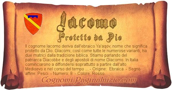 Nome Iacomo