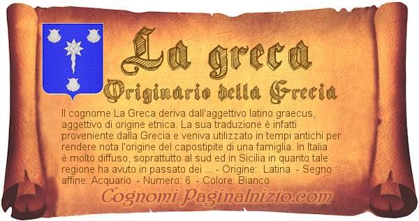 Nome La greca