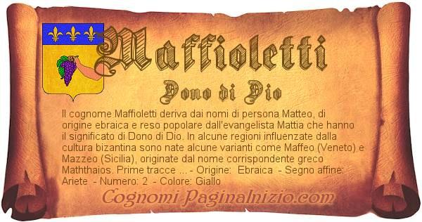 Nome Maffioletti