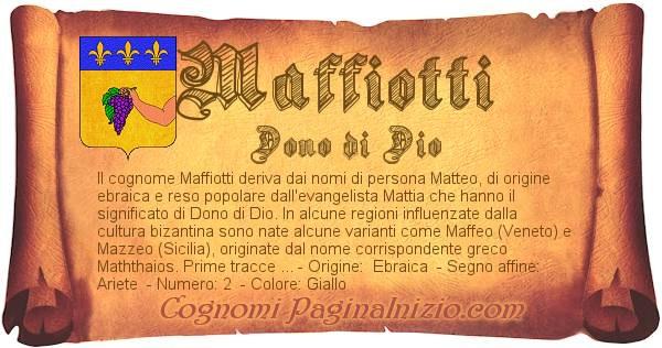Nome Maffiotti