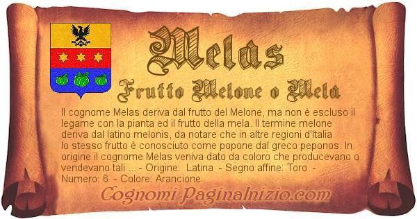 Nome Melas