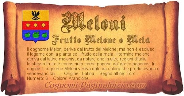 Nome Meloni