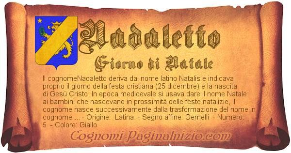 Nome Nadaletto