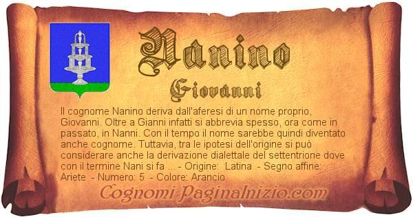 Nome Nanino