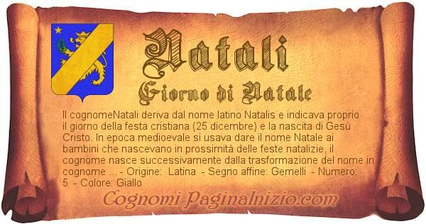 Nome Natali