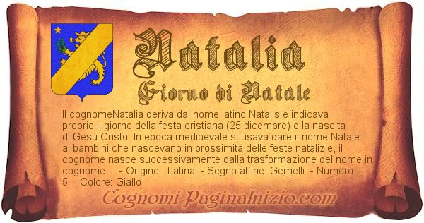 Nome Natalia