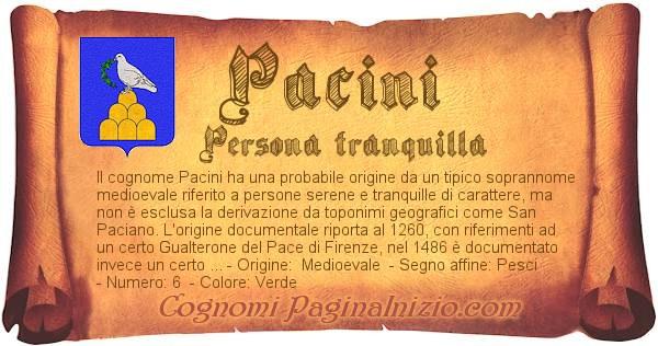 Nome Pacini