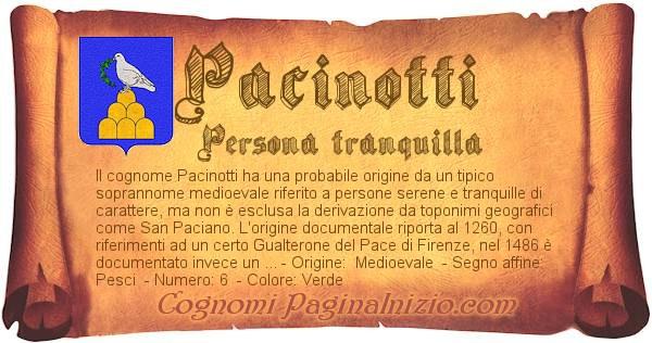 Nome Pacinotti