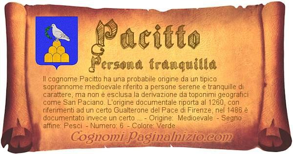 Nome Pacitto