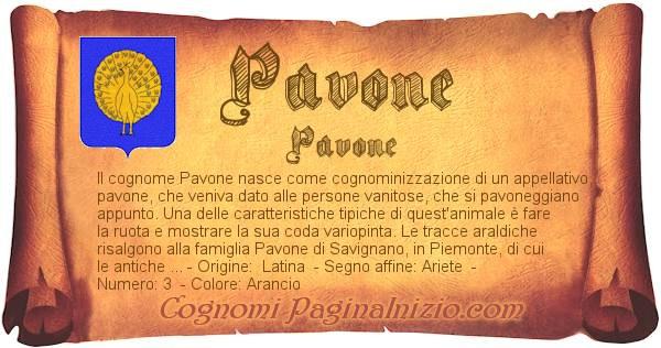 Nome Pavone
