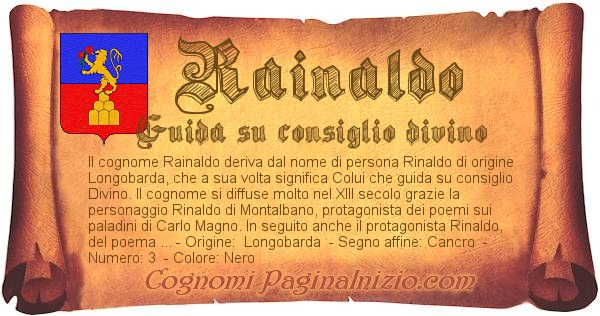 Nome Rainaldo