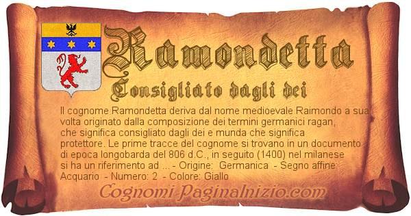 Nome Ramondetta