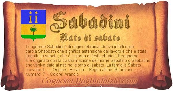 Nome Sabadini
