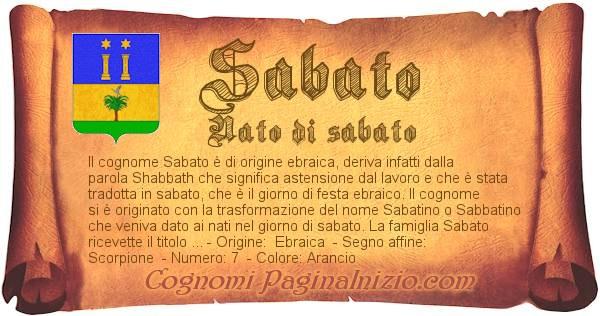 Nome Sabato