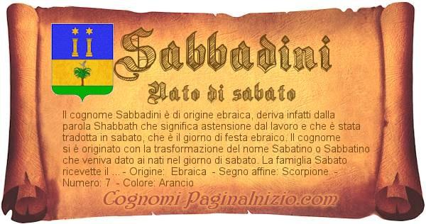 Nome Sabbadini