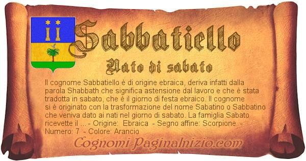 Nome Sabbatiello