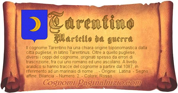 Nome Tarentino