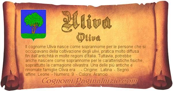 Nome Uliva