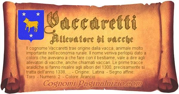 Nome Vaccaretti