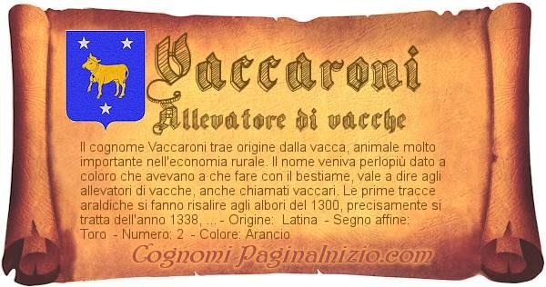 Nome Vaccaroni