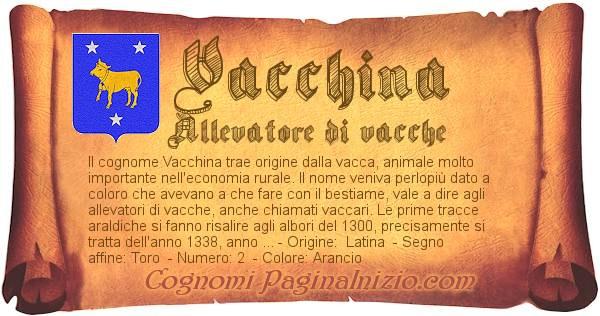 Nome Vacchina