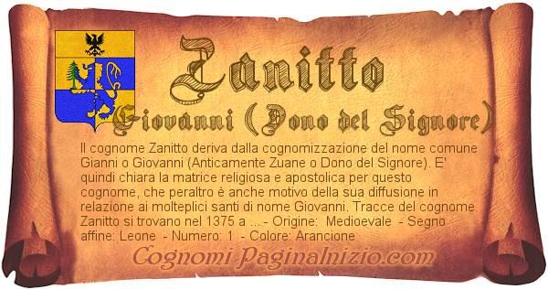 Nome Zanitto