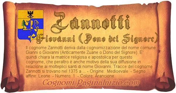 Pergamena col cognome https://www.paginainizio.com/cognomi/imgcognomi/zannotti.jpg