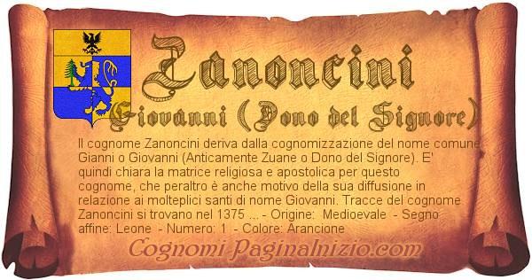 Nome Zanoncini