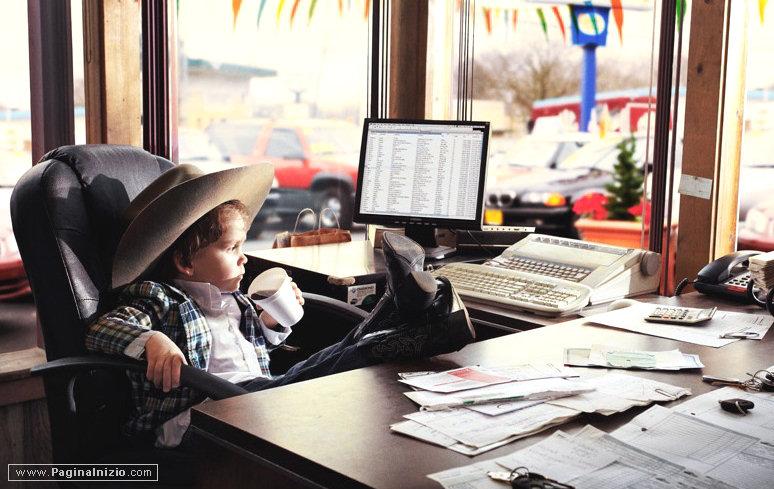 Un cowboy in ufficio!
