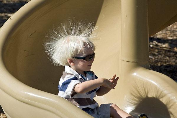 Uno scivolo da far drizzare i capelli!
