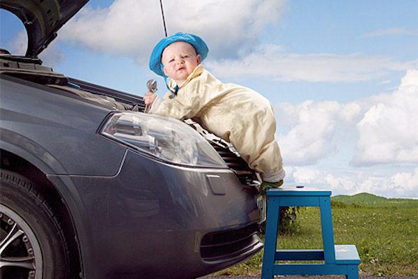 Papà te l'aggiusto io la macchina!