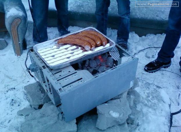 Il case diventa un barbecue