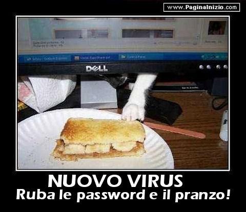 Nuovo virus...Attenzione, ruba anche il pranzo!