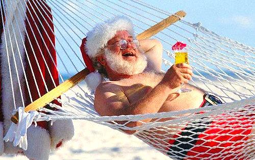 Anche Babbo Natale va in vacanza!