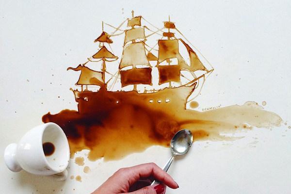 Dipinto al caffé
