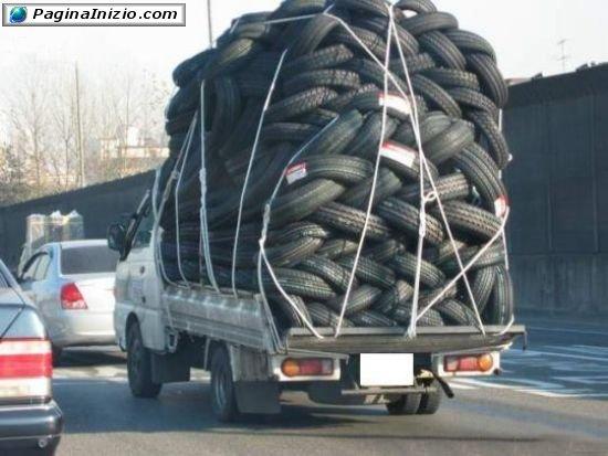 Un trasporto molto gommoso