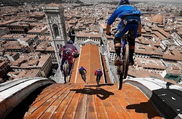 Ciclismo sul Duomo di Firenze...