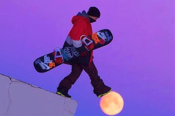 Snowboard sulla Luna!
