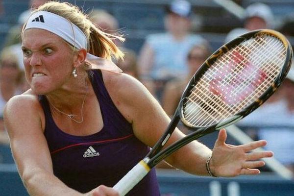 Una tennista agguerrita