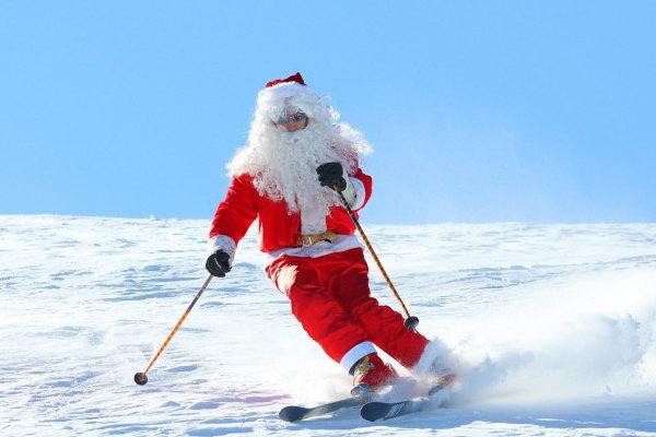 Un Babbo Natale molto atletico