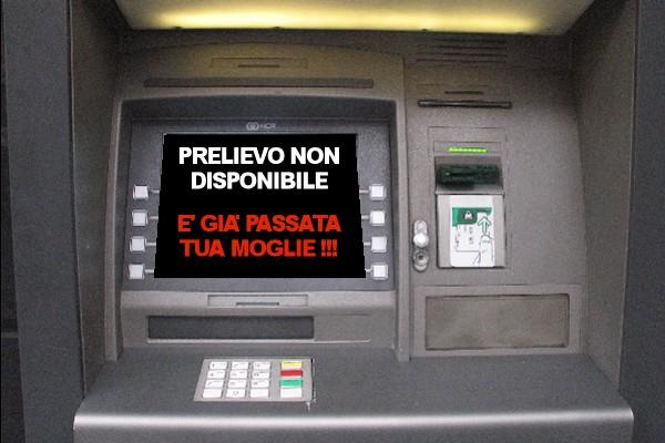 Il bancomat parlante