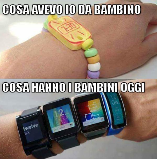 Gli orologi di oggi e di ieri