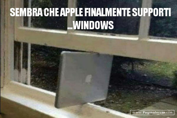 Chi ha detto che Apple non supporta windows