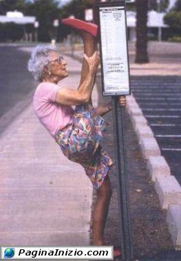 Nonnina atletica!