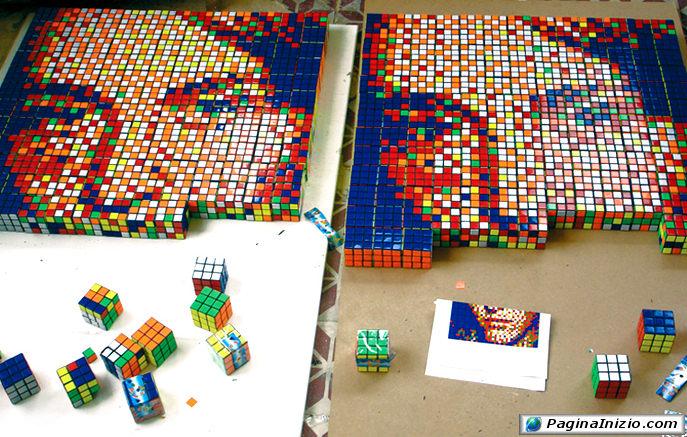 Puzzle con cubo di Rubik