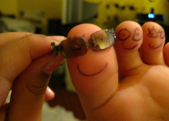Ecco i piedi felici