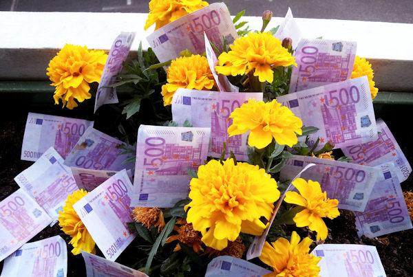 Belli i soldi che fioriscono!